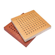 Wooden Perforated acoustic panel for auditorium sound absorption