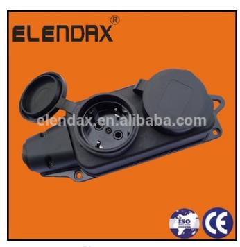 P6210E EU industrial rubber waterproof socket
