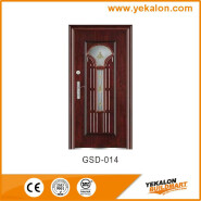Yekalon Hot Selling Good Quality Classic Design Glass Series Modern Steel Security Door GSD-014