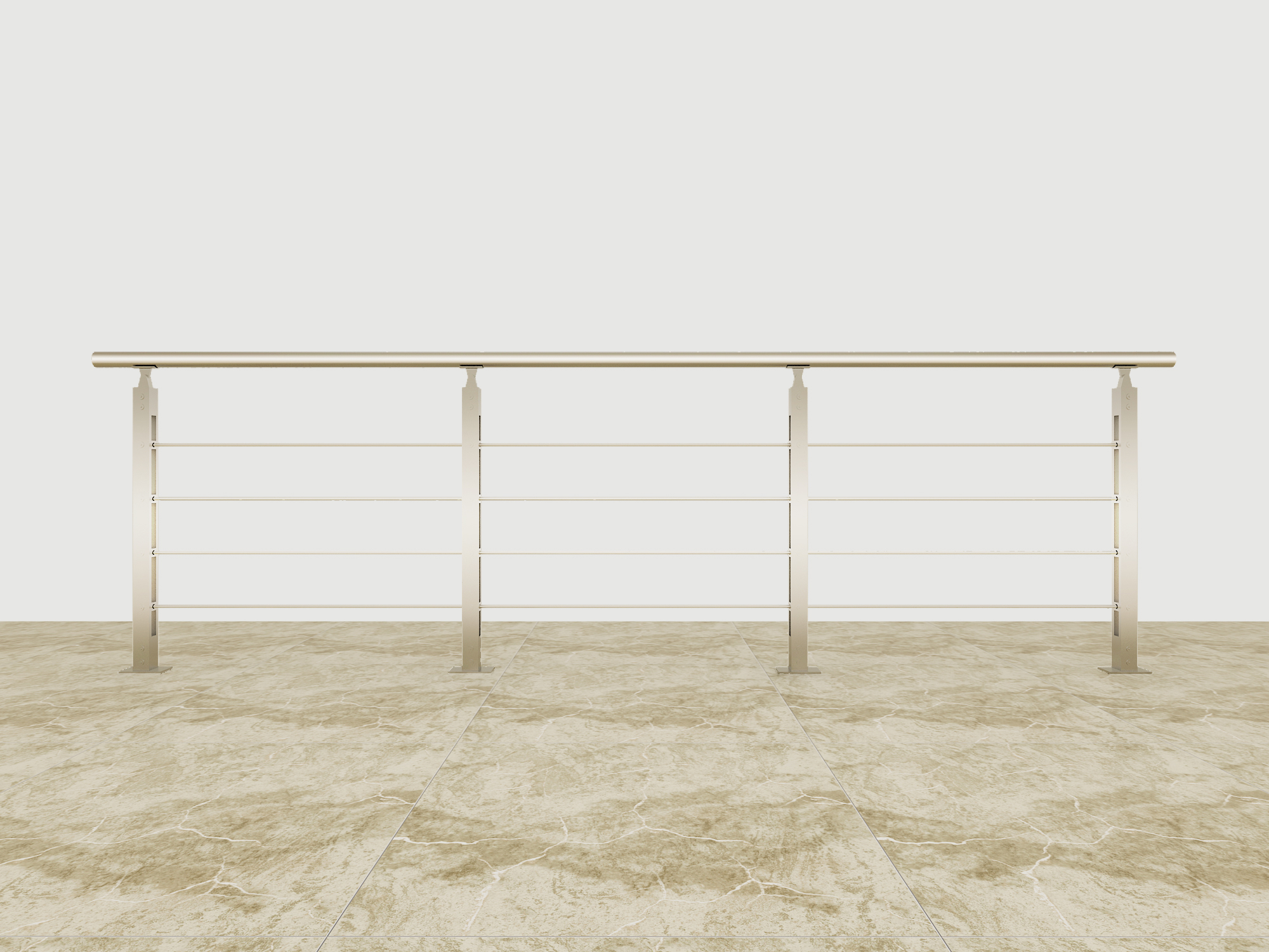 Best Choice Exceptional Quality Popular Design Aluminum solid-rod railing YKB-AR002
