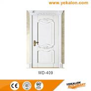 New Product Highest Level Fancy Design wood grain handcraft solid wooden door(WD-409)