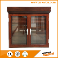 Hot Selling Good Quality Classic Design Aluminum wooden transfer casement window YKL033