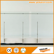 Hotselling Excellent Quality Nice Design Stainless steel glass railing YKB-SG010