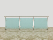 On Sale Premium Quality Good Design Stainless steel glass railing SG007