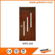 Yekalon WPD-026 Hot SaleSuper Quality Various Design glass standard size WPC door