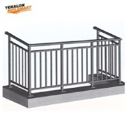 Yekalon Square Tube Decorative Zinc Steel Balustrade Zinc Steel Railing for Balcony and Terrace Railing YKI-CSB001