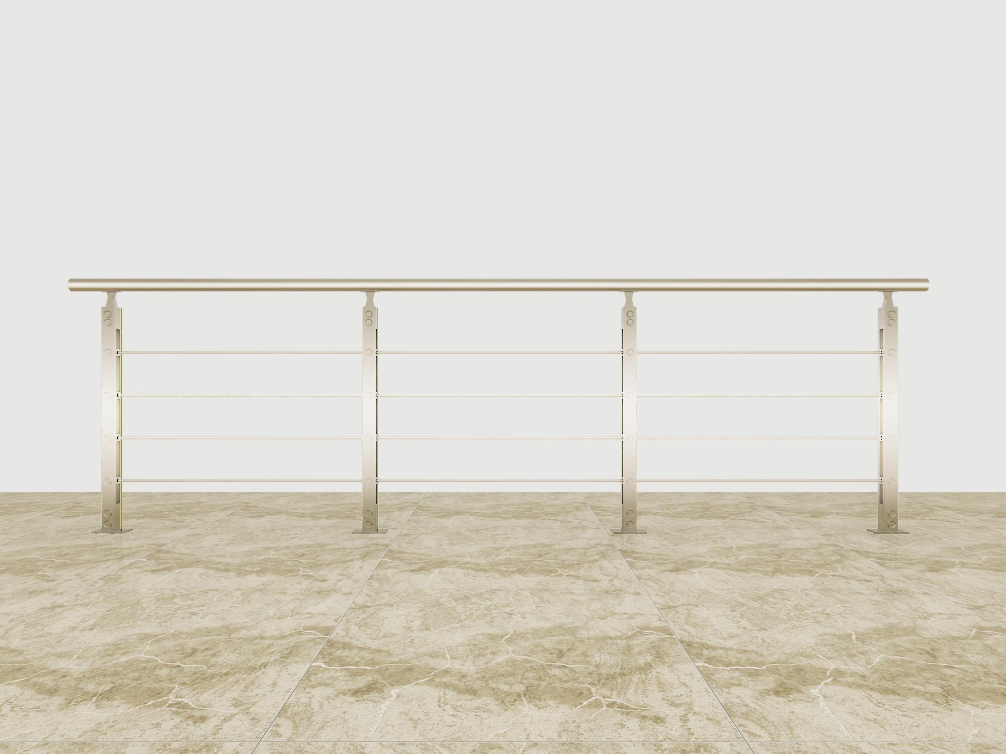 Hot Selling Good Quality Classic Design Aluminum solid-rod railing AR001