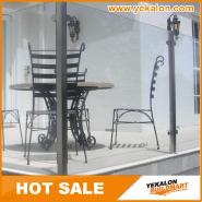 New Product Highest Level Fancy Design Stainless steel glass railing YKB-SG003