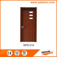 Yekalon WPD-019 Top10 Best Selling Top Class Brand Design glass standard size WPC door