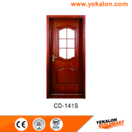 Hot Sales High Standard Professional Design engineered panel design solid wood door(CD-141S)