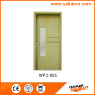 Yekalon WPD-025 New Product Highest Level Fancy Design glass standard size WPC door