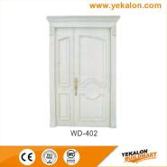 New Arrived Quick Lead Simple Design wood grain handcraft solid wooden door(WD-402)
