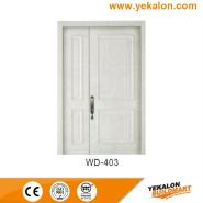 Promotional Quality Guaranteed Customized Design wood grain handcraft solid wooden door(WD-403)