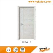 Hotselling Excellent Quality Nice Design wood grain handcraft solid wooden door(WD-412)