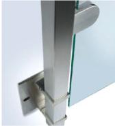 Promotions Top Grade Fashion Design Stainless steel glass railing YKB-SG008