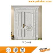 Sales Promotion High Quality Original Design wood grain handcraft solid wooden door(WD-401)