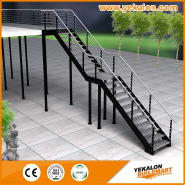 Bargain Sale Top Quality Fashion Designs Stainless steel with steel plate staircase YKS-LCS1