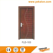 Best Choice Exceptional Quality Popular Design simple and fashion Flush veneer interior door(FLD-103)