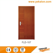 Best Selling Superior Quality Latest Design simple and fashion Flush veneer interior door(FLD-107)