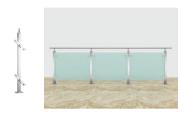 Best Selling Superior Quality Latest Design Stainless steel glass railing YKB-SG002