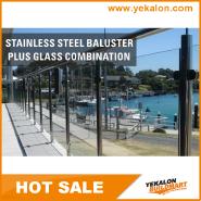 New Arrival Luxury Quality Best Design stainless steel glass railing YKB-SG001