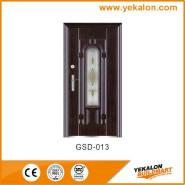 Yekalon Best Choice Exceptional Quality Popular Design Glass Series Modern Steel Security Door GSD-013