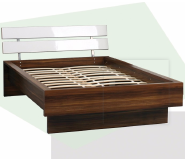 high gloss bedroom furniture simple double bed