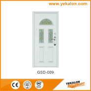 Yekalon GSD-009 Hotselling Excellent Quality Nice Design Glass Series Modern Steel Security Door