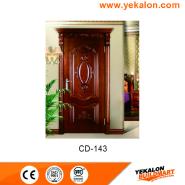 New Product Highest Level Fancy Design engineered panel design solid wood door(CD-143)