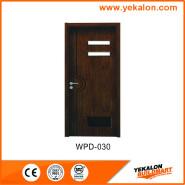 Yekalon WPD-030 Promotions Top Grade New design glass standard size WPC door