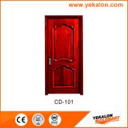New Arrived Quick Lead Simple Design engineered panel design solid wood door(CD-101)