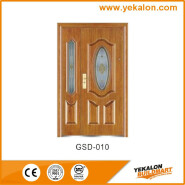 Yekalon GSD-010 Best Selling Superior Quality Latest Design Glass Series Modern Steel Security Door