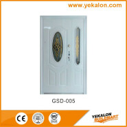 Yekalon GSD-005 New Product Highest Level Fancy Design Glass Series Modern Steel Security Door