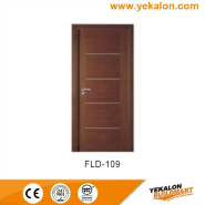 Best Choice Exceptional Quality Popular Design simple and fashion Flush veneer interior door(FLD-109)