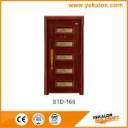 Yekalon Luvury series security door steel door,Metal Door, Iron Entrance Door STD-166