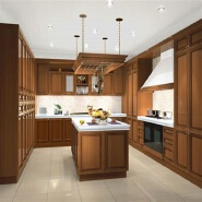 New Product Highest Level Fancy Design solid wood kitchen cabinet sw-008
