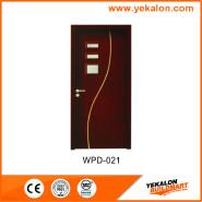 Yekalon WPD-021 Hot Sales High Standard Professional Design glass standard size WPC door