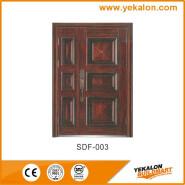 Yeakalon SDF-003 Frosted Heat Transfer Series Modern Fancy Quality Steel SECURITY Door