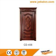 Best Selling Superior Quality Latest Design engineered panel design solid wood door(CD-406)