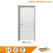 Best Selling Superior Quality Latest Design wood grain handcraft solid wooden door(WD-413)