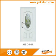 Yekalon GSD-001 Opening Sale Samples Are Available Special Design Glass Series Modern Steel Security Door