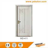 On Sale Premium Quality Good Design wood grain handcraft solid wooden door(WD-411)