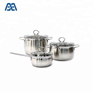 Top Selling Kitchen Appliances Cooking Pot Stainless Steel Cookware Set