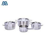 Durable dishwasher safe stainless steel cookware set