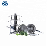 Soup pot stainless steel handle induction cookware set