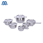Various styles apple shape stainless steel cookware set