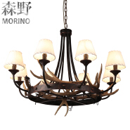Black Color and Energy Saving Light Source Chandelier with Iron material