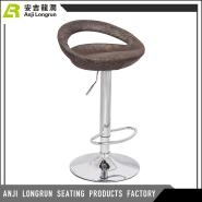 Customized Furniture fashion modern rattan/wicker bar high chair with footrest