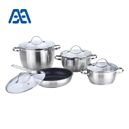 Professional grade 4(8) pcs stainless steel cookware set