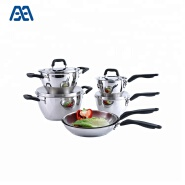 Kitchen Cookware Bakelite Handles Stainless Steel Cooking Set